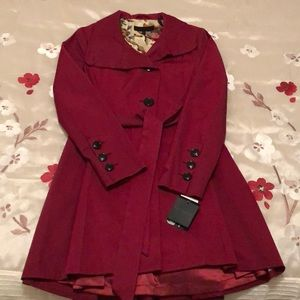 NWT Red Steve Madden Trench Coat